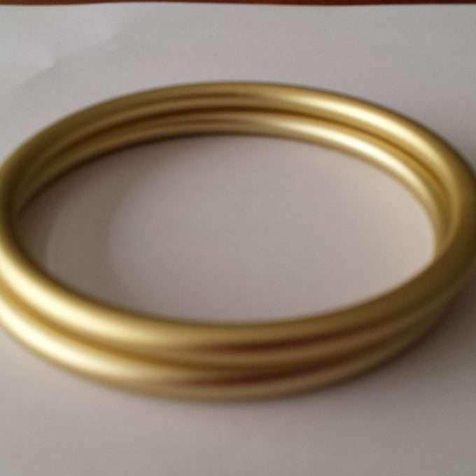 coppia di anelli oro chiari opachi m-0