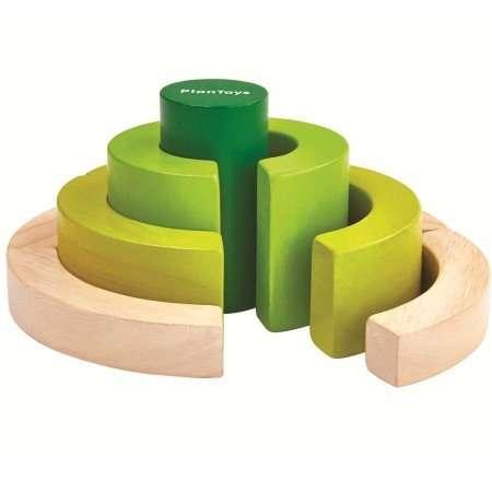 plantoys blocchi curvi verdi-0