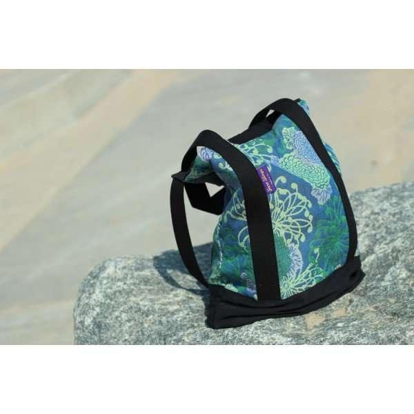 yaro chrys tote bag ultra green lilac sand tencel-0