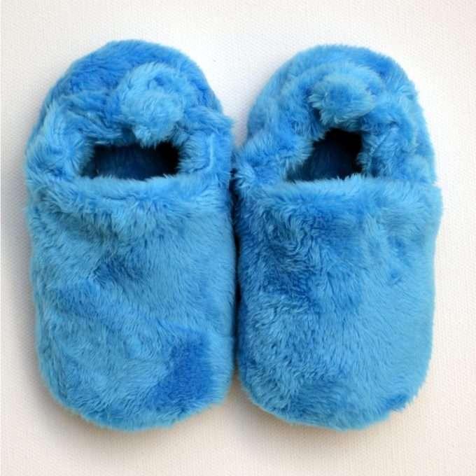 Poco Nido Blue Fluffy Mini Shoes Scarpine Primi Passi-0