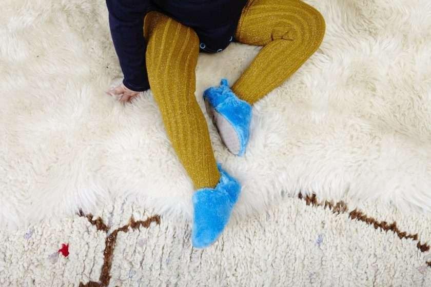 Poco Nido Blue Fluffy Mini Shoes Scarpine Primi Passi-6562