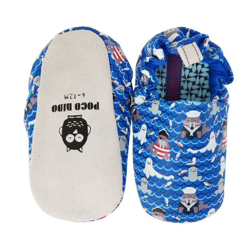 Poco Nido Seal and Walrus Mini Shoes Scarpine Primi Passi-0