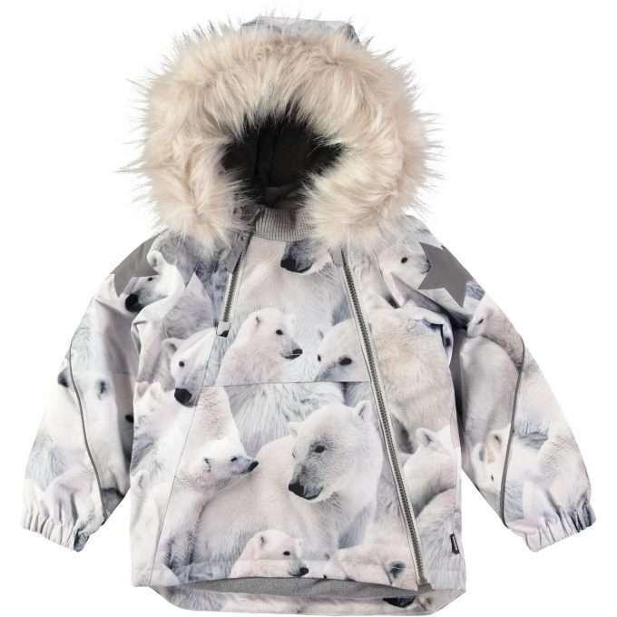 Molo Hopla Fur Polar Bear Giacca -0