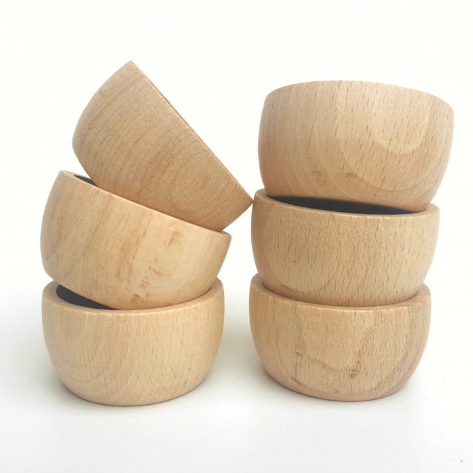 Grapat Ciotole in legno naturale -0