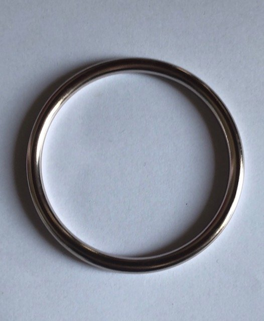 coppia di anelli champagne chiaro lucido taglia l-0