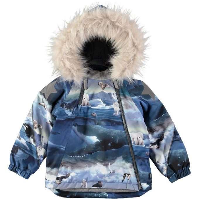 Molo Hopla Fur Arctic Landscape Giacca -0