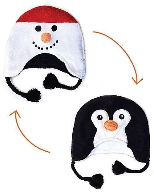 FlapJackKids Cappello Invernale reversibile SFF 50+ Pupazzo di neve/Pinguino-0