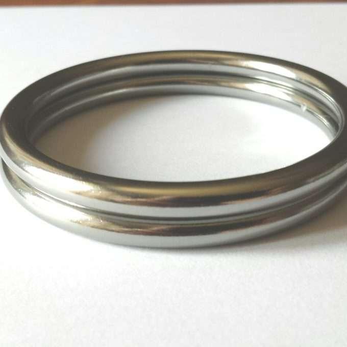coppia di anelli argento opaco taglia l-0