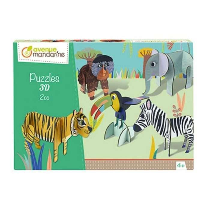 Avenue Mandarine Puzzle 3D Zoo-0