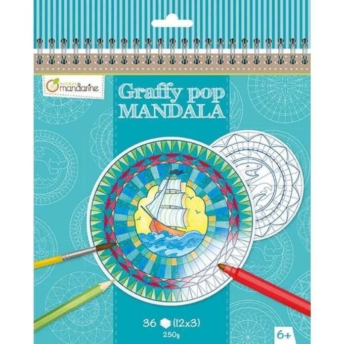 Avenue Mandarine Mandala da colorare Boy-0