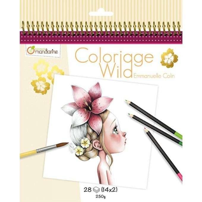 Avenue Mandarine Colouring Book Wild 1-0