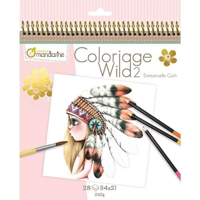 Avenue Mandarine Colouring Book Wild 2-0