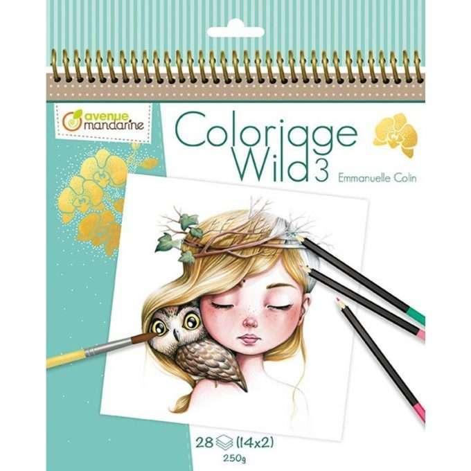 Avenue Mandarine Colouring Book Wild 3-0