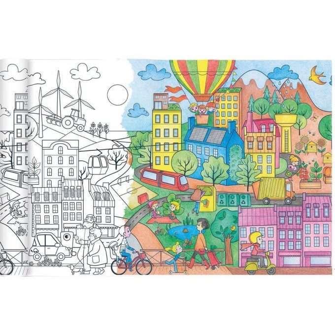 Avenue Mandarine Rotolo da colorare Città ecologica-0