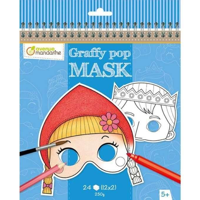 Avenue Mandarine maschere da colorare Fiabe Grimm-0