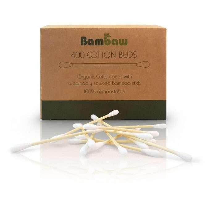 Bambaw Bastoncini per le orecchie senza plastica 400 pezzi-0