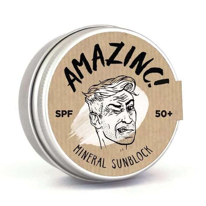 Amazinc Mineral Shield Protezione Solare SPF 50+ Beige Brown-0