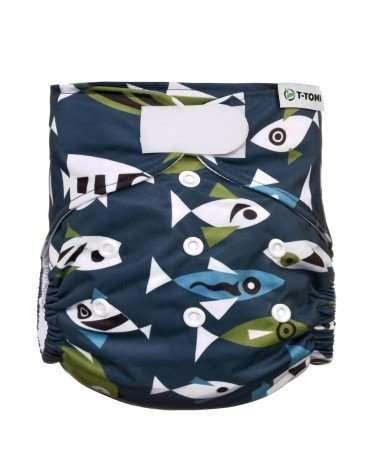 T-Tomi Pannolino Lavabile Pocket Fish-0