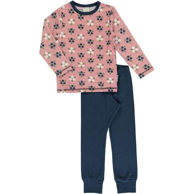 Maxomorra Set Pigiama Lungo Blueberry Blossom-0