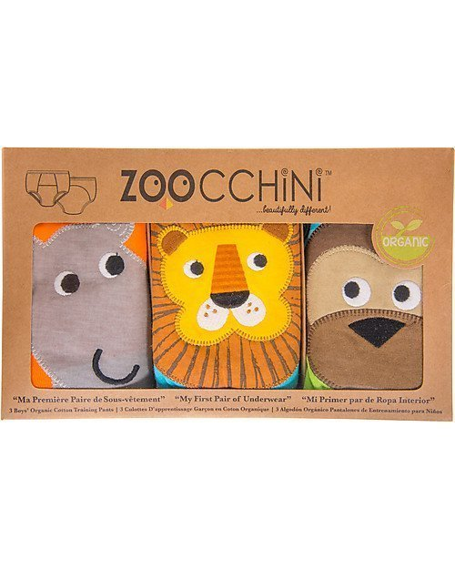 zoocchini training pants bimbo set da 3 safari 2-3-0