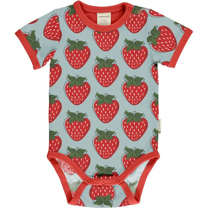 Maxomorra Body Manica Corta Strawberry-0