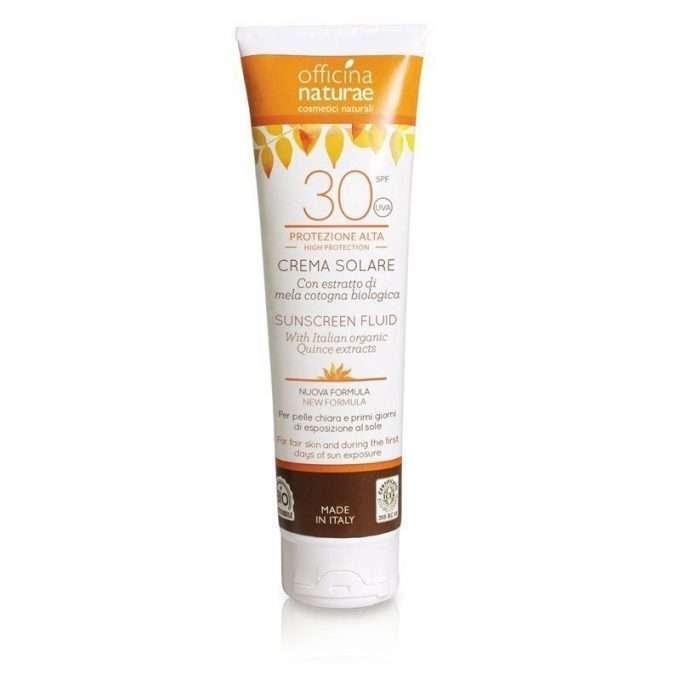 Officina Naturae Crema fluida solare SPF 30 protezione alta -0