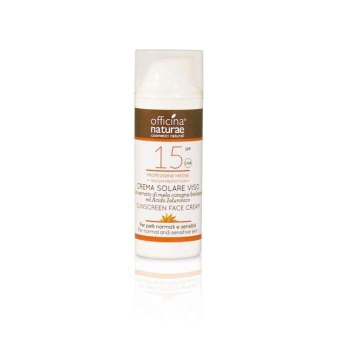 Officina Naturae Crema fluida solare SPF 15 VISO protezione media AIRLESS -0