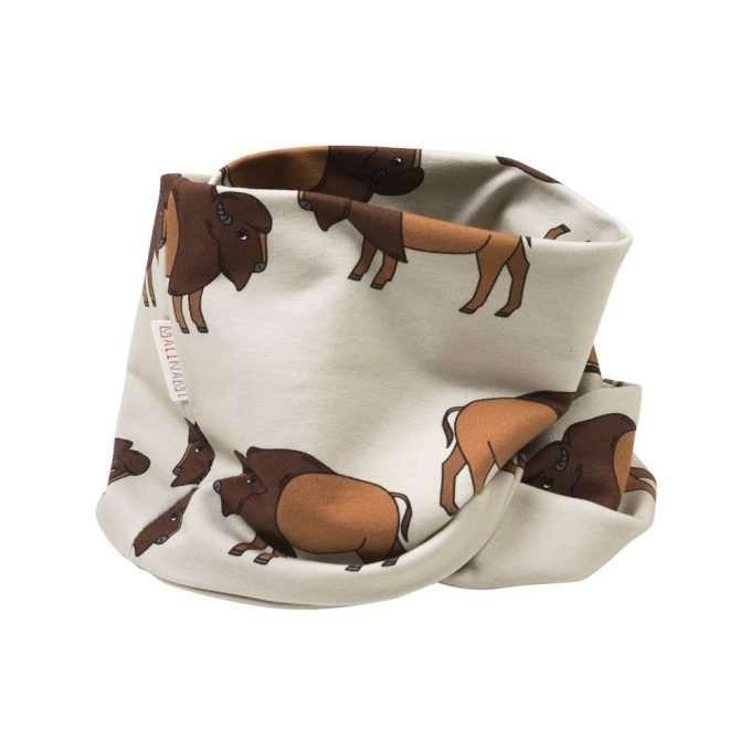 sciarpa ad anello Malinami Bison on Dusty Ecru